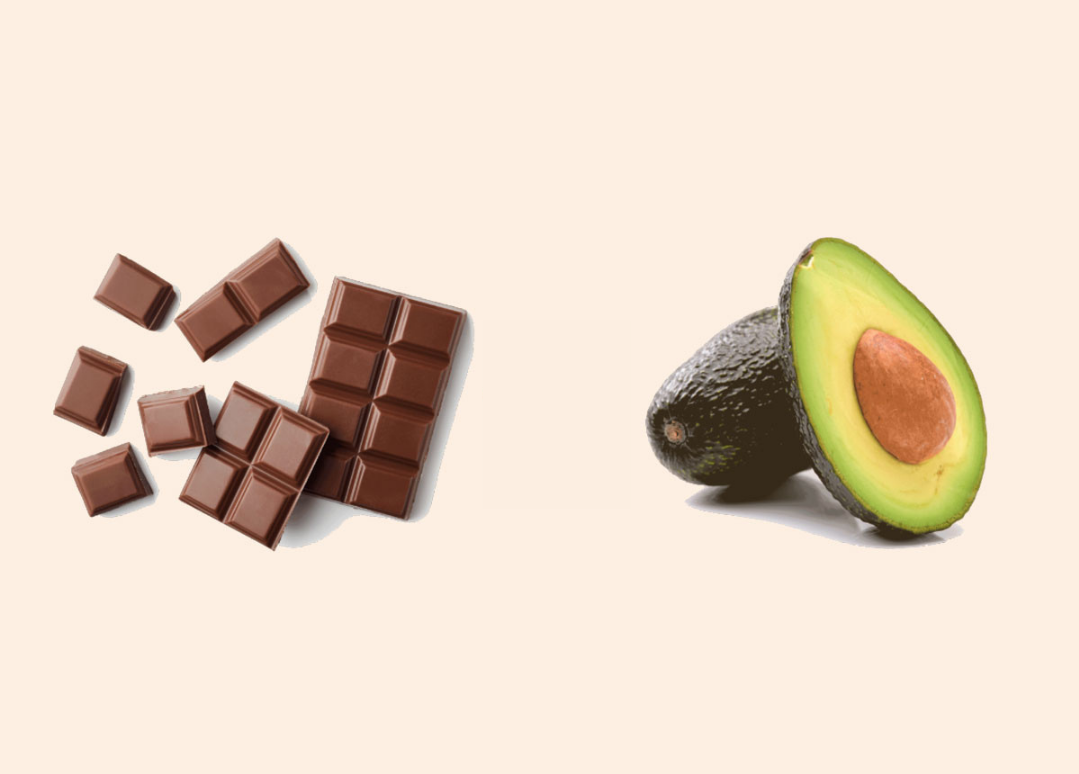 Chocolate and avocardo